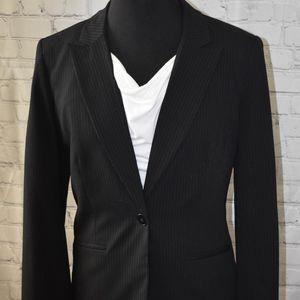 Liz Claiborne Black Pinstripe Blazer Size 8 Tall